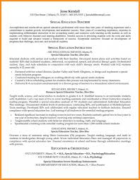Resume Example For Special Education Teacher Youtube Cover Resumes
