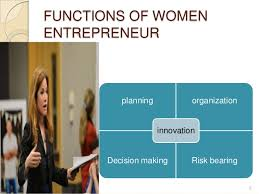 women entrepreneurs  6 functions of women entrepreneur