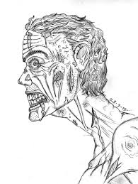 Scary Zombie Coloring Pages With Coloring Book Zombie Drawing