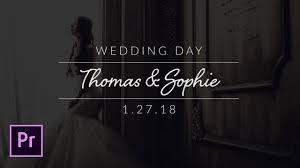 Wedding Title Create Minimal Wedding Titles In Adobe Premiere Pro Tutorial
