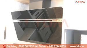 TDM.VN   Review Máy Hút Khói Khử Mùi Hafele HH-WVG90B 539.89.335 mặt kính  nghiêng màu đen chính hãng - YouTube