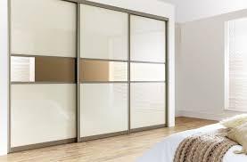 3 sliding door wardrobe cream mirror