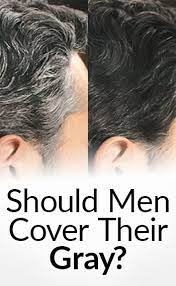 should a man cover his gray hair