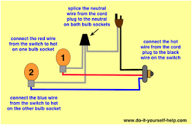 lamp switch wiring diagrams do it yourself help com Plug Socket Diagram wiring a push button lamp switch plug socket wiring diagram
