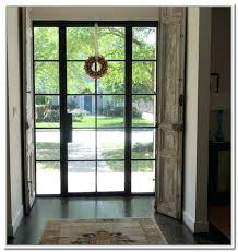 metal glass doors exterior front and entryways x a double with