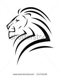 Stock Vector Lion Tattoo Vector Illustration Tattoo Dragon