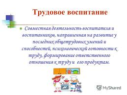 Презентация на тему Труд как деятельность форма и средство  8 Трудовое воспитание Совместная деятельность