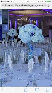 White Hydrangea Centerpieces, White Hydrangeas, White Marble Flooring, Wedding  Reception Ideas, Blue Orchids, Rivers