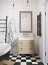 white check bathroom floor
