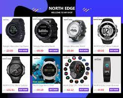 <b>North Edge</b> GPS <b>Smart Watch</b> Running Sport GPS Watch Bluetooth ...