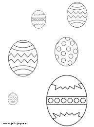 Kleurplaat Daarna Kun Je De Eieren Van Groot Naar Klein Laten