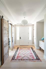Pink and Black Foyer Rug