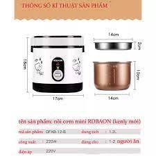 Nồi cơm điện - nồi cơm điện mini 1.2l hãng RDBAON Kenly , nồi cơm điện mini  dành cho 1 người - Nồi cơm điện Nhãn hàng No Brand