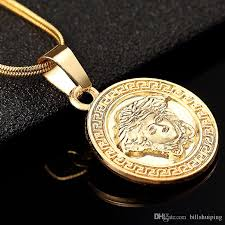 whole new hip hop gold plated round pendant chain for women men necklace jewelry whole silver heart necklace pendants for men from billsping