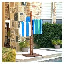 diy pool towel racks outdoor rack stand standing ideas design best free hangers