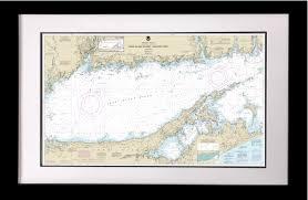 Framed Long Island Nautical Chart
