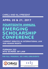 emerging scholarship conference poster logos jpg presented in collaboration the institute for international law and justice provides an opportunity for current nyu school of law jd