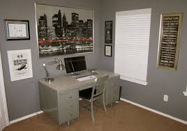 on the wall opposite the office desk is storage for equipment like the printer and supplies century office equipment