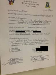 Pic #1 - Follow Up From Soldier Who Submitted Army Leave Request ...