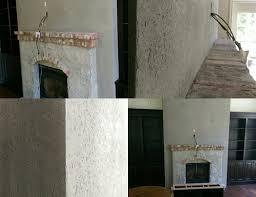 bespoke grey venetian plaster fireplace