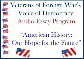 teens enter an audio essay contest thru  since 1947 the voice of democracy has been the veterans of foreign wars vfw s premier scholarship program each year nearly 40 000 high school students