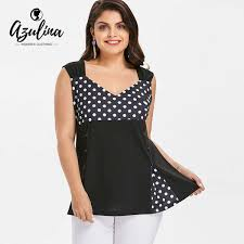 2019 Rosegal Plus Size Polka Dot Buttons Insert Tank Top Women Sweetheart Neck Sleeveless Big Size Tops Casual Ladies Clothes Y19042801 From Huang03