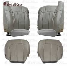 99 2000 2001 2002 chevy tahoe suburban silverado leather seat cover package gray 3025960162992