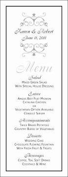 Wedding Bar Menu Template Free New Free Wedding Menu Templates