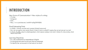 Business Self Introduction Letter Email Sample Samples