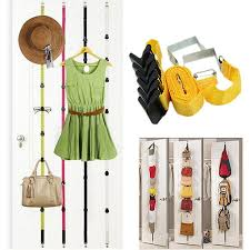 Coat Bag Rack 100 hooks Adjustable Hanging Straps Over Door Towel Coat Clothes Hat 36