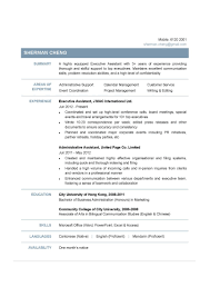 Template Office Assistant Resume Sample Executive Example