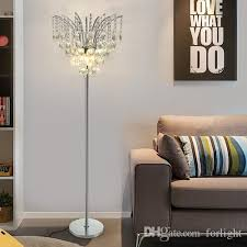luxury modern royal dimmable floor lamps crystals for living room bedroom study room office dinning room k9 crystal led floor lighting led floor light