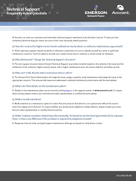 Technical Support Questions Technical Support Frequently Asked Questions