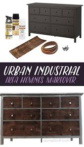 furniture hack. ikea hack transform an hemnes set of drawers into a mixed material urban industrial furniture
