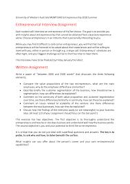 Interview Assignment Rubric 2018 Mgmt3342 Uwa Studocu