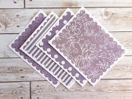 purple note cards last set a2 purple note cards blank stationery with etsy