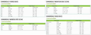 60 Elegant The Best Of Cannondale Road Bike Size Chart