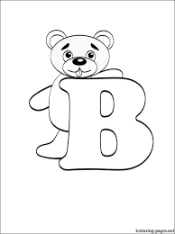 Small Picture Letter B coloring page Coloring pages