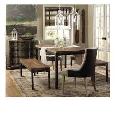 becca brown linen and leather dining chair