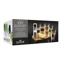 bar craft eight piece tequila shot gift set