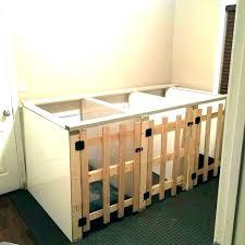 indoor dog kennel plans in garage ideas incredible kennels regarding rustic furniture home design decorating inside diy