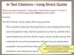 Mla Format Citing A Quote Keniganamasco Extraordinary Mla Quote Citation