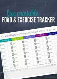 Food And Exercise Trackers Freebie Friday Food Exercise Tracker Thrifty Thursday