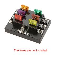 com buy kkmoon hot way circuit car fuse box com buy kkmoon hot 6 way circuit car fuse box holder 32v dc waterproof blade fuse holder block for auto car boat car light source from