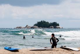 surfing korea s demilitarized zone the th parallel the inertia byron bay native ian coshy grabs a wind swell wedge during the early fall off the