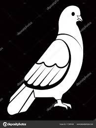 シンプルな白鳩鳥 ストックベクター Sonulkaster 171680498