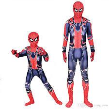 Spiderman Costume 3D Printed Kids Adult Spandex Homecoming Iron Spider Man  Costume Bodysuit Men Halloween Cosplay Zentai Suit 80s Halloween Costume  Costume ...