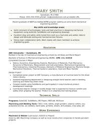 Manufacturing Engineer Cv Sample Good Resume Test Production