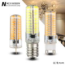 G8 Light Fixtures Us 14 92 20 Off 6pcs Newest Dimmable Light Ac 220v 110v Led G9 G8 G4 E17 E14 E11 E12 Lamp 5730 Smd Silicone Lights 80 Leds Energy Saving Bulb In Led