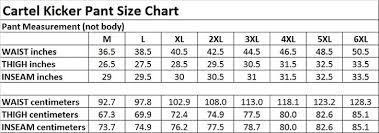 Snow Pants Size Chart Cartel Kicker Mens Ski Pants Black Xl